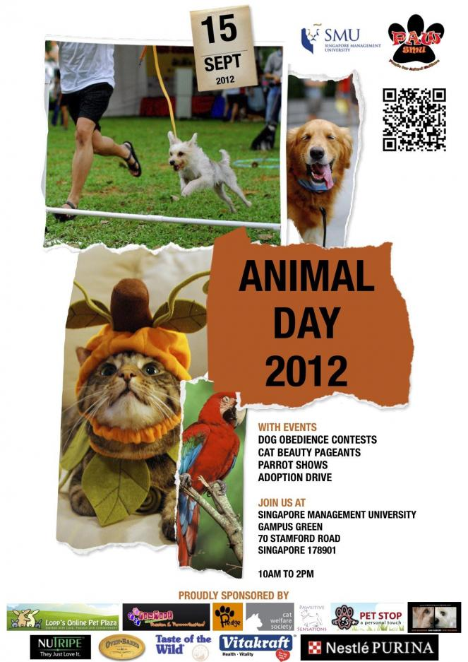 Singapore Management University, PAWS - Animal Day (September 15,2012)-aniday_flyer_final1-1-jpg