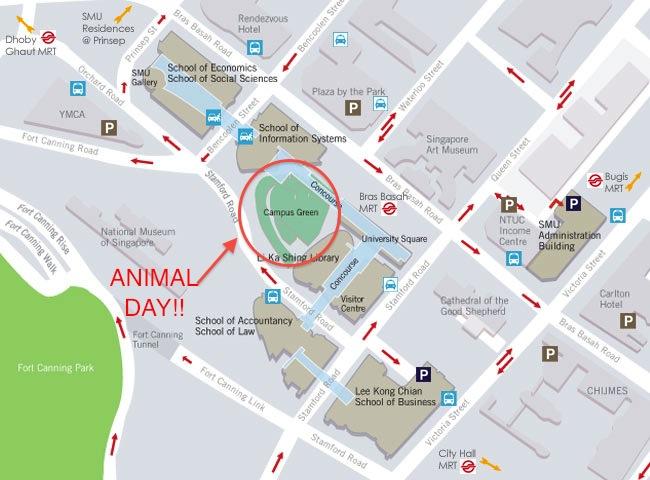 Singapore Management University, PAWS - Animal Day (September 15,2012)-campusmap-jpg